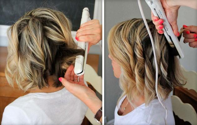 Как сделать локоны с короткими волосами